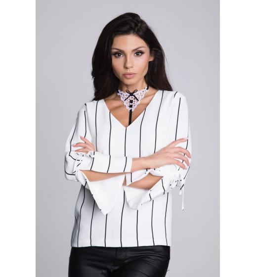 Воротничок декоративный Julimex LADY BOSS COLLET чёрный/белый. ❤ COLLET