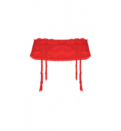 Пояс для чулков Julimex  Lilly чёрный/белый/красный. ❤ Lilly