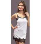 Сорочка Shato 1630/1 атлас белый. ❤ 1630/1