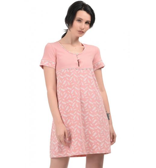 Сорочка с коротким рукавом Barwa 0031 хлопок. ❤ 0031
