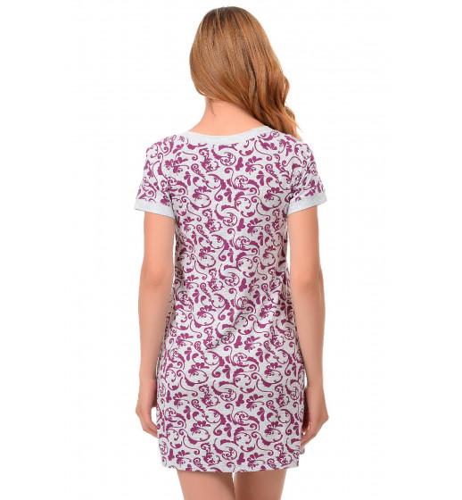 Сорочка с коротким рукавом Barwa 0220 викоза. ❤ 0220
