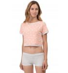 Комплект футболка-топ+шортики 0224/132 хлопок. ❤ 0224/132