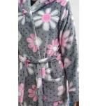 Халат теплый с капюшоном Barwa 0227 велсофт. ❤ 0227