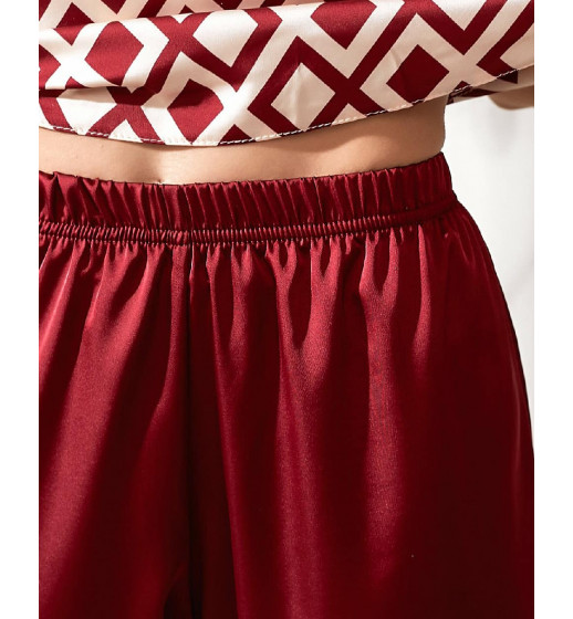 Комплект майка + штаны 0258/259 бордовый ромб. ❤ 0258/259