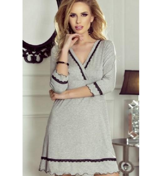 Сорочка с рукавом Eldar Lea, вискоза, серый. ❤ Lea