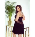 Сорочка Eldar Taida, вискоза, чёрный с бордовым. ❤ Taida