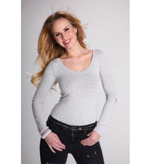 Блуза с длинным рукавом Eldar Petra, вискоза, серый. ❤ Petra