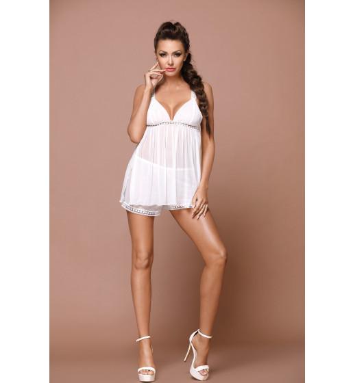 Комплект сорочка+трусики Excellent Beauty L-151 Белый. ❤  L-151 Белый.