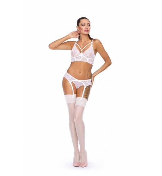 Комплект бюстгальтер+пояс/трусики Excellent Beauty L-157 SET Белый. ❤  L-157 SET Белый.