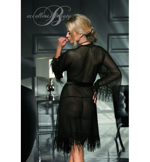 Пеньюар Excellent Beauty N-718+str Черный. ❤ N-718+str Черный.