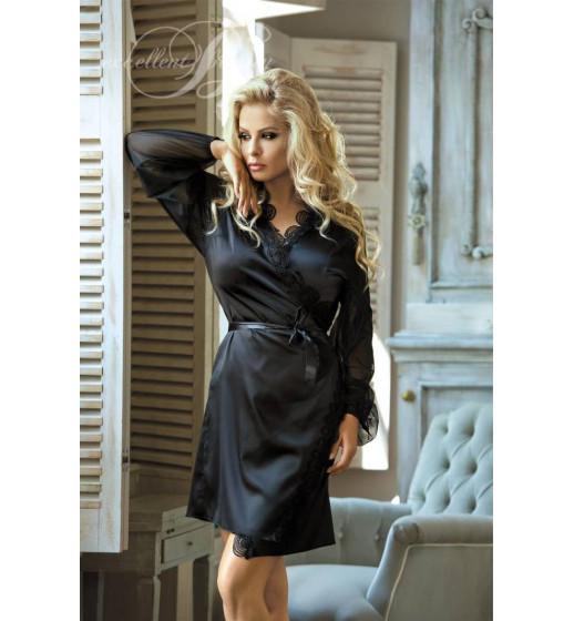 Халат Excellent Beauty N-708 Черный. ❤  N-708 Черный