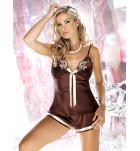 Комплект майка+шортики IRALL ADELE Шоколадный. ❤ ADELE Шоколадный