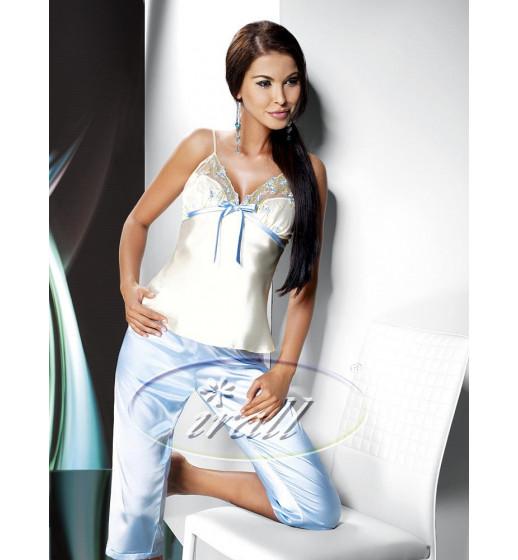 Домашний костюм (майка/бриджи) IRALL GRACE Бело-голубой. ❤  GRACE Бело-голубой