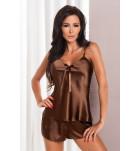 Комплект майка+шортики IRALL ARIA Шоколадный. ❤ ARIA Шоколадный