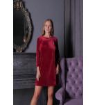 "Платье домашнее ""Ottawa"" Komilfo 1309, велюр. ❤ 1309"