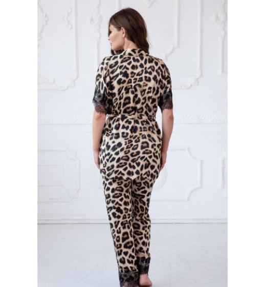 """Комплект укороченный халат +брюки """"Michelle"""" Komilfo 2170s+3164, шелксатин. ❤ 2170s+3164"""
