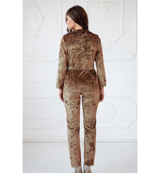 "Комплект-тройка халат+брюки+майка ""California"" Komilfo 3146/1, велюр. ❤ 3146/1"