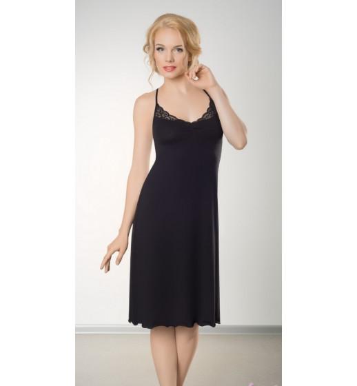 Сорочка Marsana 03-022 черная, шампань. ❤ 03-022