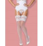 Чулки Obsessive 810-STO-2 stockings Белый. ❤ 810-STO-2 stockings Белый.
