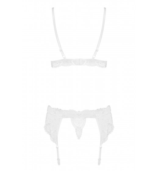 Комплект бюстгальтер+трусики/пояс Obsessive 810-SEG-2 Белый. ❤  810-SEG-2 Белый.