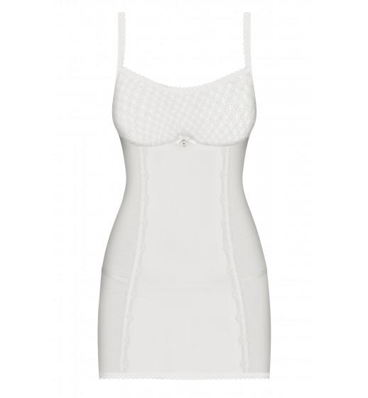 Комплект сорочка+трусики Obsessive 843-CHE-2 CHEMISE Белый. ❤ 843-CHE-2 CHEMISE Белый.
