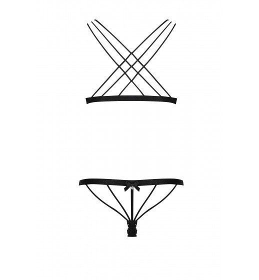 Комплект бюстгальтер+трусики Obsessive 854-SET-1 Черный. ❤  854-SET-1 Черный.