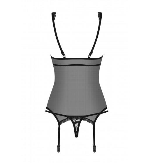 Корсет Obsessive 856-COR-1 CORSET Черный. ❤ 856-COR-1 CORSET Черный.