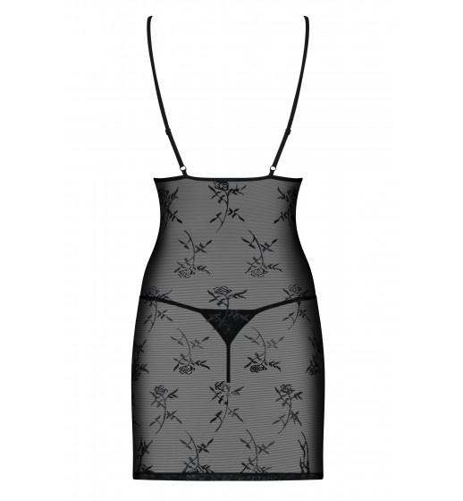 Комплект сорочка+трусики Obsessive BRIDE CHEMISE Черный. ❤ BRIDE CHEMISE Черный.