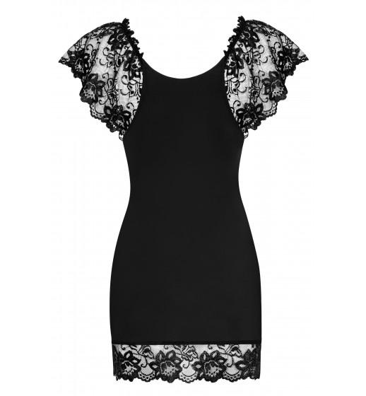 Комплект сорочка+трусики Obsessive IMPERIA CHEMISE Черный. ❤  IMPERIA CHEMISE Черный.