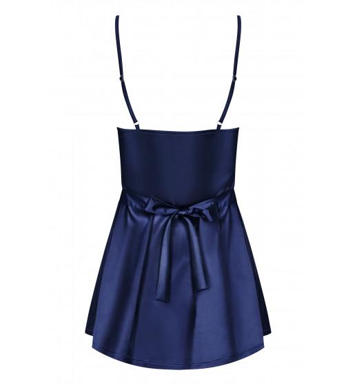 Комплект сорочка+трусики Obsessive SATINIA BABYDOLL Синий. ❤ SATINIA BABYDOLL Синий