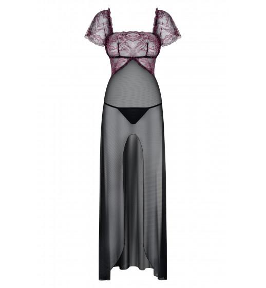 Комплект платье+трусики Obsessive SEDUSIA GOWN Черный. ❤  SEDUSIA GOWN Черный.