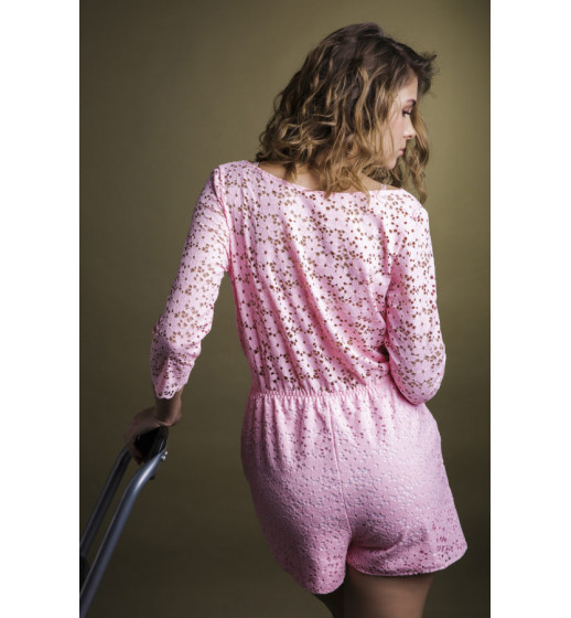 Комбинезон кружевной пляжный Your Touch Puerto Rico PR-0300 розовый.  ❤ 0300