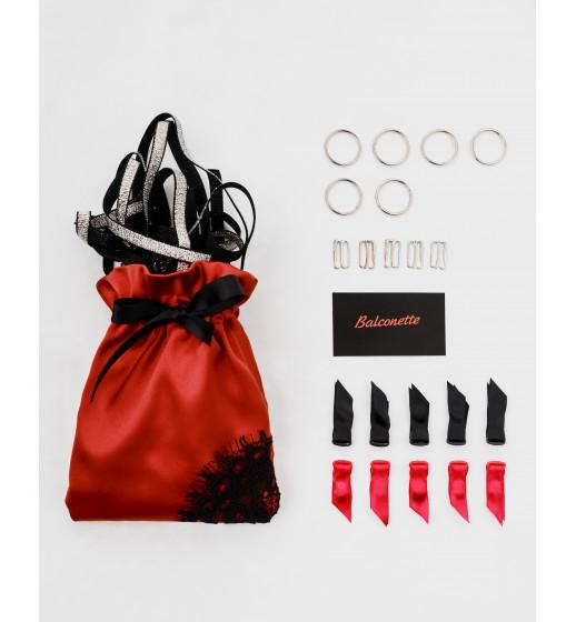 Подвязка Balconette №1 one size резинка велюр 1см, черный, в подарочной упаковке, арт.238 ❤ Артикул 238