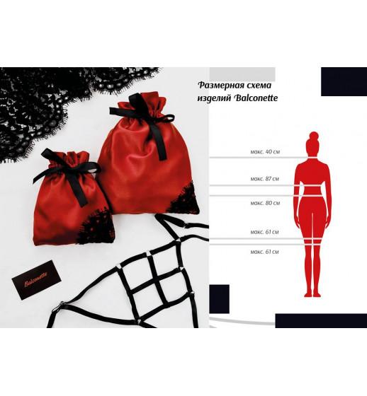 Портупея гартер на тело Balconette №1 one size резинка 1см, белый в подарочной упаковке, арт.154 ❤ Артикул 154